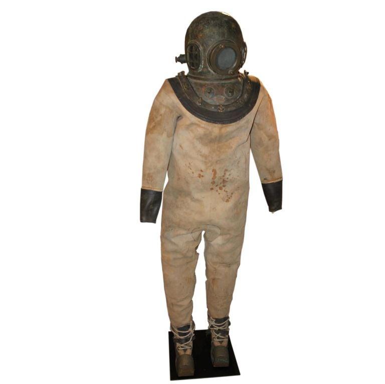Rare Antique Diving Suit