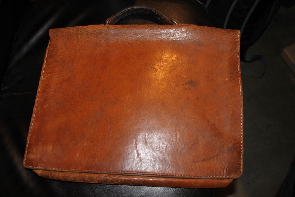 Mid-20th Century Beautifully Worn Hermes Attache