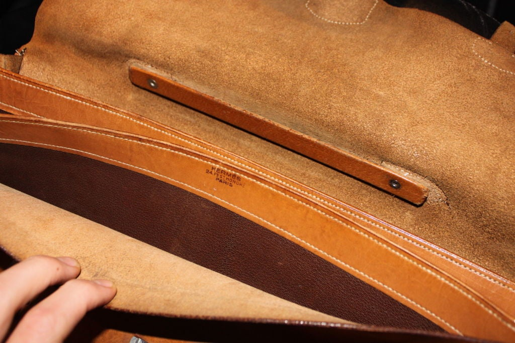 Leather Beautifully Worn Hermes Attache