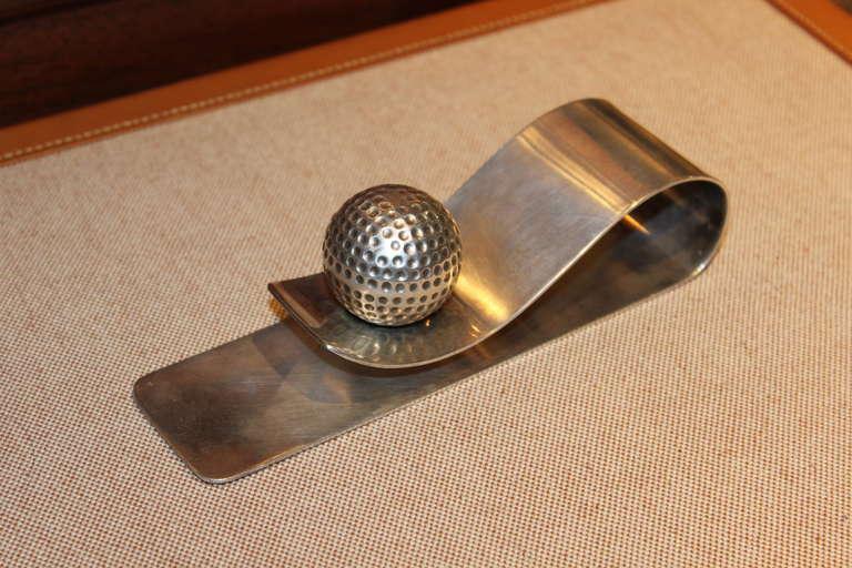 Rare Hermès Golf Motif Paper Holder 2