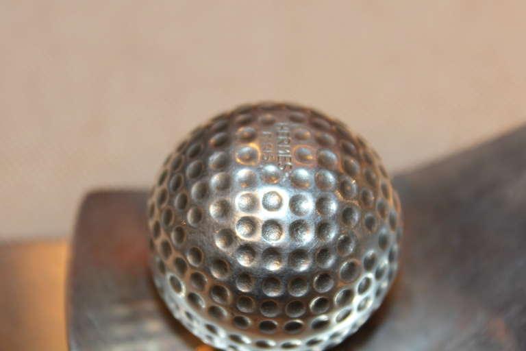 Rare Hermès Golf Motif Paper Holder 3