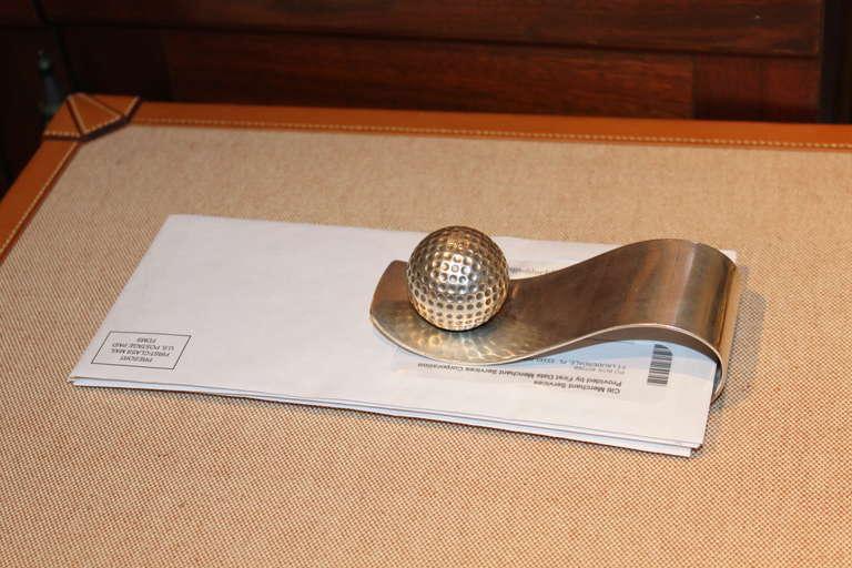 Rare Hermès Golf Motif Paper Holder 4
