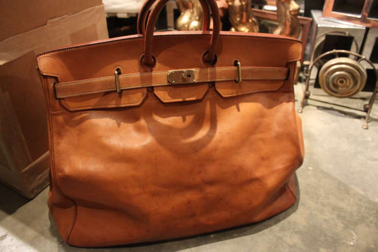 69bbb8dbe7d4 French Hermes 55cm HAC Travel Bag For Sale