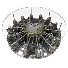 Unglaublicher Siebenzylinder Jacobs Flugzeugmotor Couchtisch