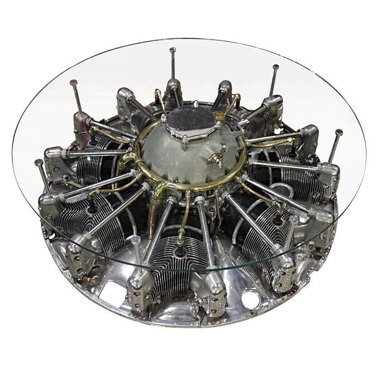 Incredible Seven Cylinder Jacobs Aircraft Engine Coffee Table 1