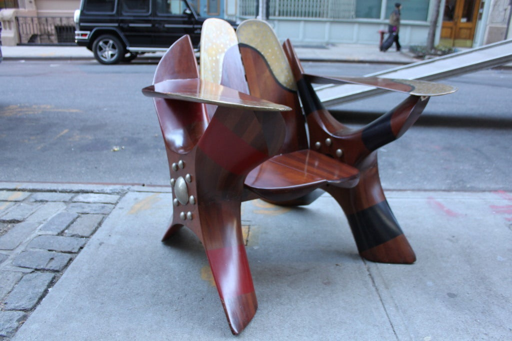American One of a Kind Chair made of Rolls Royce Propellers