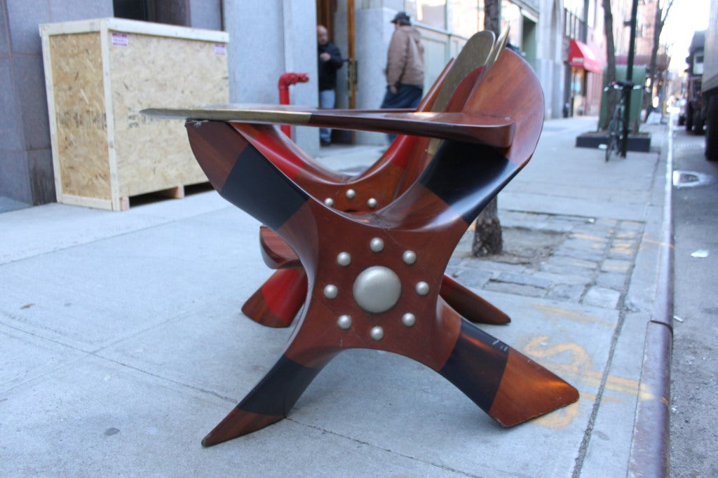 20th Century One of a Kind Chair made of Rolls Royce Propellers