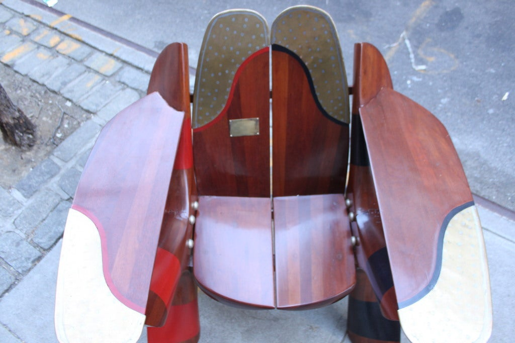 One of a Kind Chair made of Rolls Royce Propellers 1