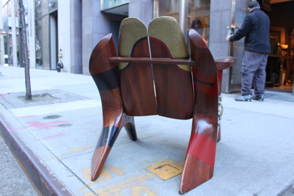 One of a Kind Chair made of Rolls Royce Propellers 2