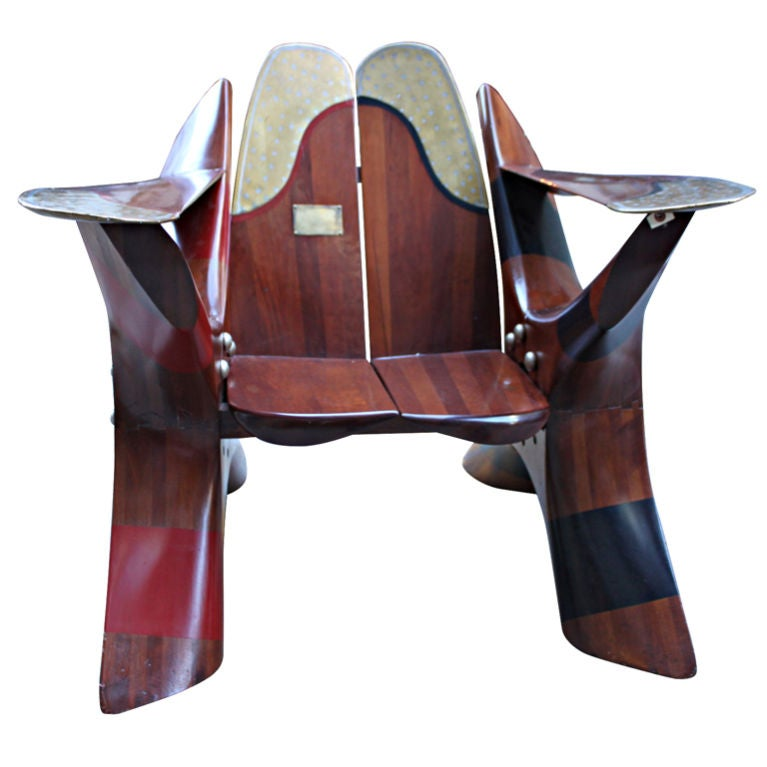 One of a Kind Chair made of Rolls Royce Propellers