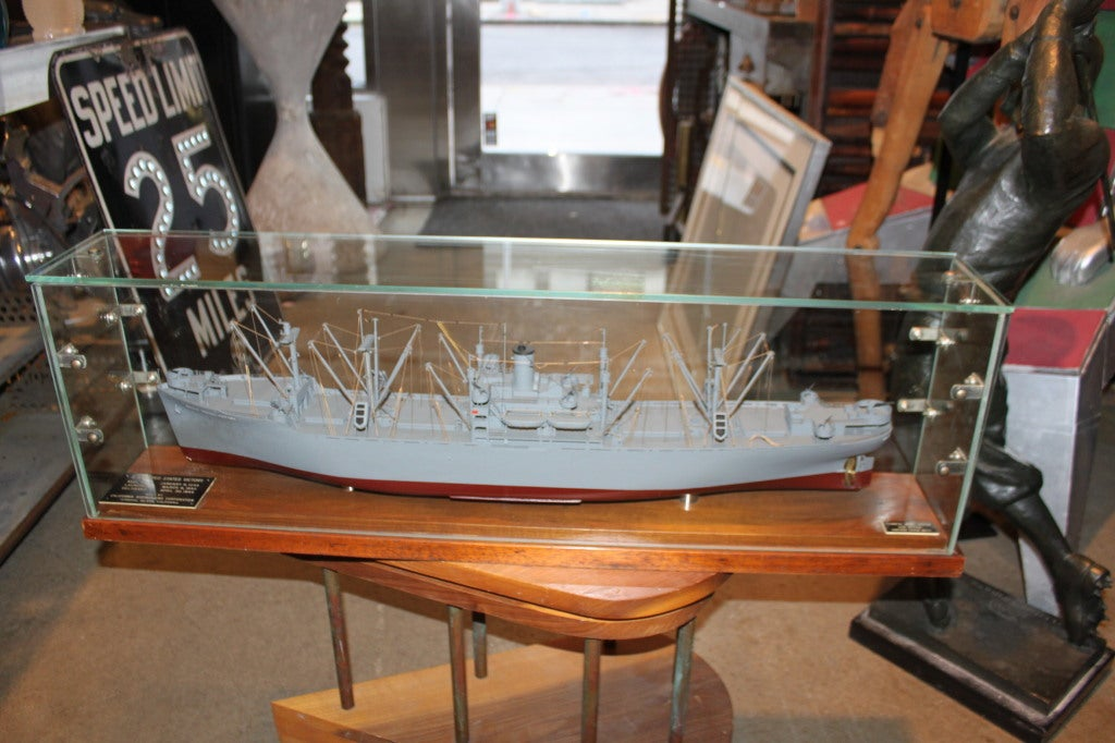 Wwii Battleship Scale Model By Van Ryper At 1stdibs