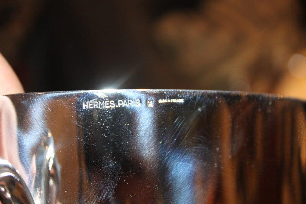 Modern Hermès Equestrian Champagne Ice Bucket For Sale
