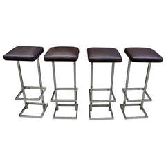 Beautiful French 70's Modern Stools