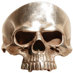 Sterling Silver Skull Cuff