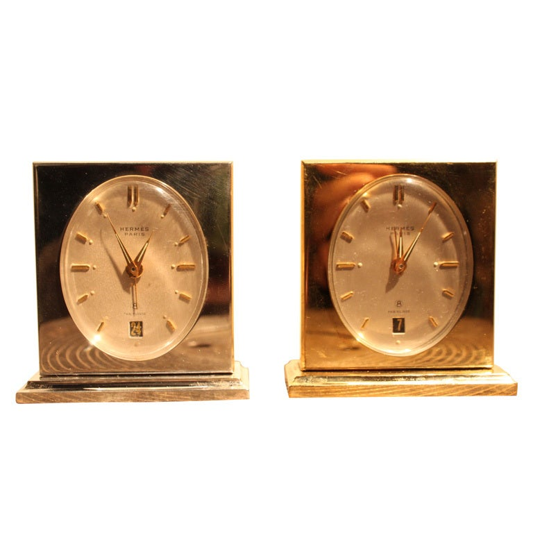 His And Hers Hermes Bedside Alarm Clock At 1stdibs