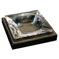 Hermes Dupre Lafon leather ashtray