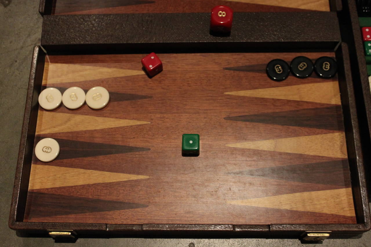 Vintage Gucci Travel Backgammon 7
