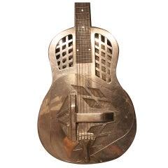Art Deco Original National Steel  Tricone Guitar