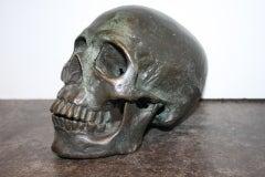 Early  20th Century American School Life Size Bronze Skull image 3