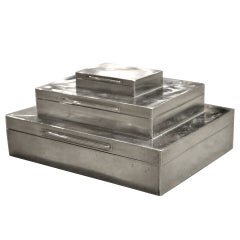 Asprey Sterling Triple Box