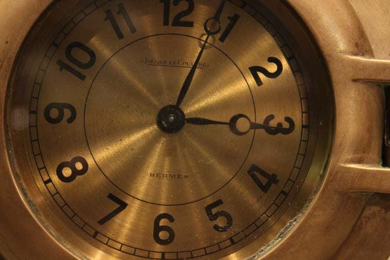 Hermes Porthole Clock by Jaeger-LeCoultre 3