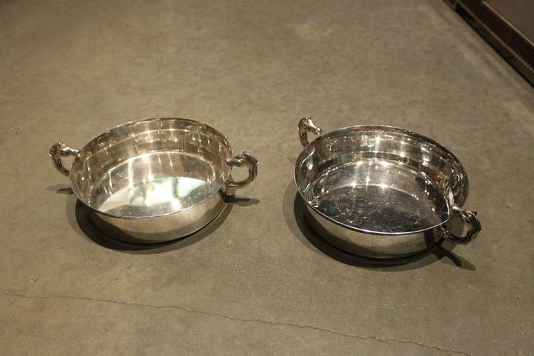 The pair of dishes are great for candy or could be used as ashtray. Very hard to find a pair. Very heavy and nice quality.