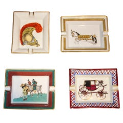 Collection of Hand-Painted Hermes Ashtrays