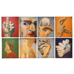 An Interesting Collection Of Gouache On Board Paintings By Paul Blavied
