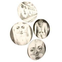 Great Collection of 11 Fornasetti Plates 1970