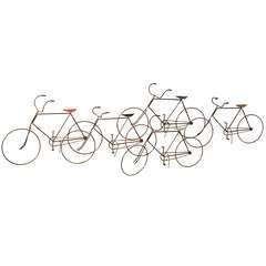 Curtis Jere Wall Hanging Bicycle Sculpture