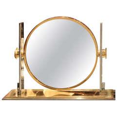 Karl Springer Large Size Table Top Vanity Mirror, 1970