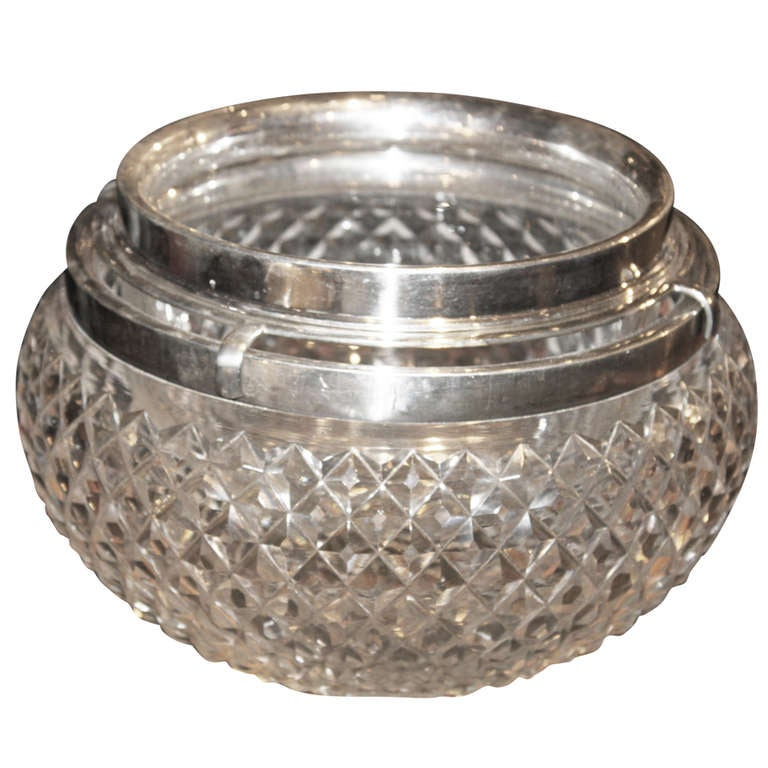Asprey Sterling and Crystal Caviar Set 1