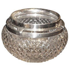 Asprey Sterling and Crystal Caviar Set