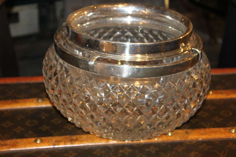 Asprey Sterling and Crystal Caviar Set 2
