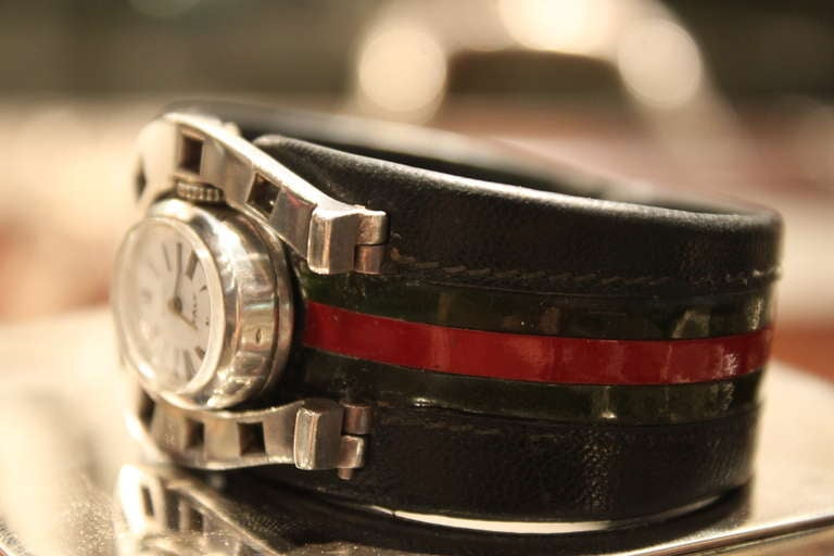 40aa3b87f2a Italian Extremely Rare Gucci Sterling Horseshoe Form Watch 1970 For Sale
