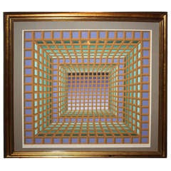 An Optical Masterpiece By Victor Vasarely  1970