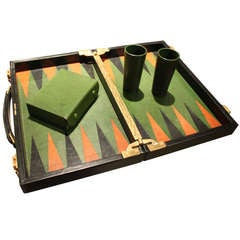 A Fine And Rare Custom Order  Hermes Backgammon Set 1950