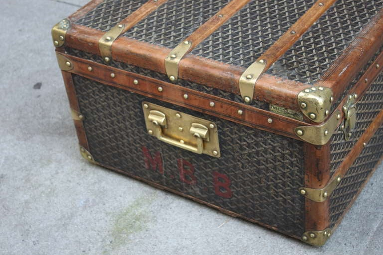 Rare Goyard Steamer Trunk Coffee Table At 1stdibs