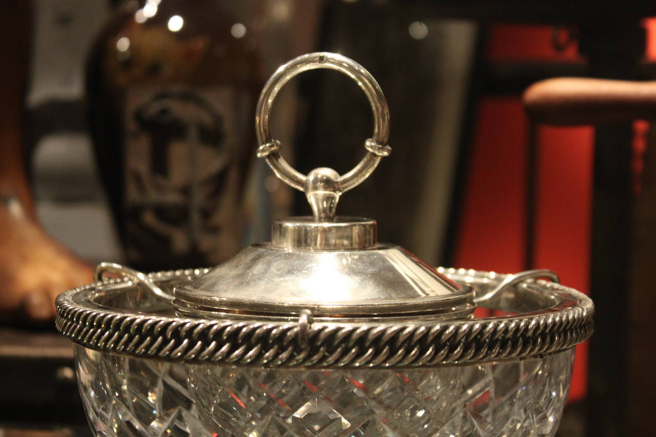 Hermès Sterling and Baccarat Crystal Caviar Service 2