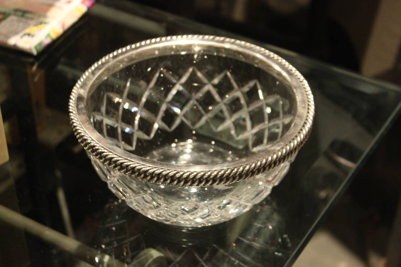 Hermès Sterling and Baccarat Crystal Caviar Service 5
