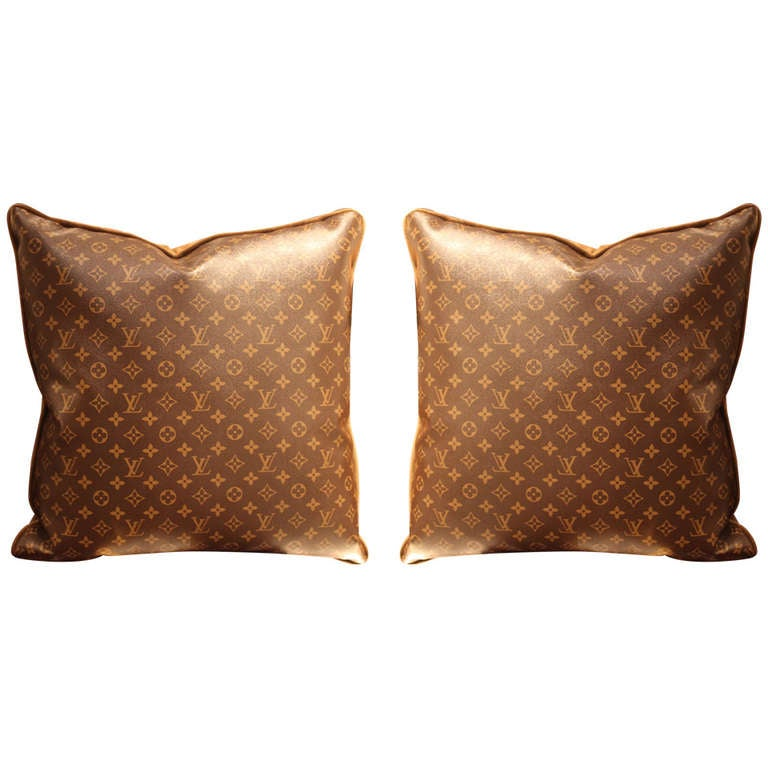 Large Throw Pillows Couch : Large Louis Vuitton Throw Pillows at 1stdibs