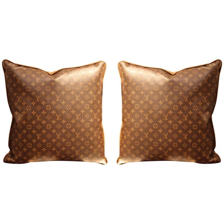 Large Louis Vuitton Throw Pillows 1