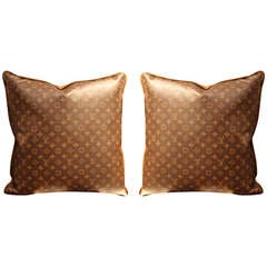 Large Louis Vuitton Throw Pillows
