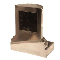 Bulgari Sterling Roman Column Clock