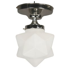 Frosted Glass Star Semi Flush Mount