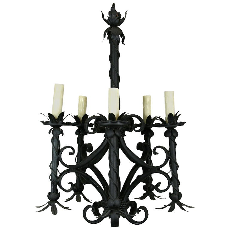 On sale french black chandelier for sale at 1stdibs - Chandeliers on sale online ...