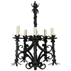 ON SALE French Black Chandelier