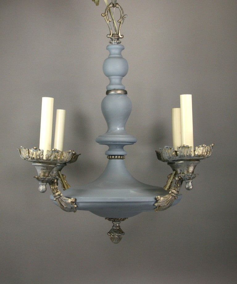 this circa 1920 39 s pale blue foliate ceiling fixture 2available is no