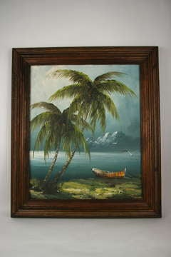 Tropical Storm Oil Painting