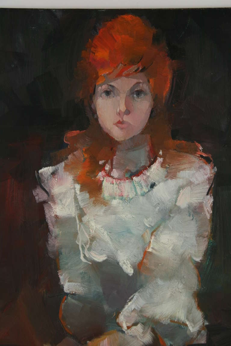 Red Hair Portrait Oil Painting At 1stdibs